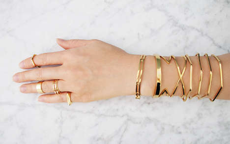 Modern Layered Jewelry - Mirlo Provides an Edgy Collection of Bracelets, Rings and Necklaces