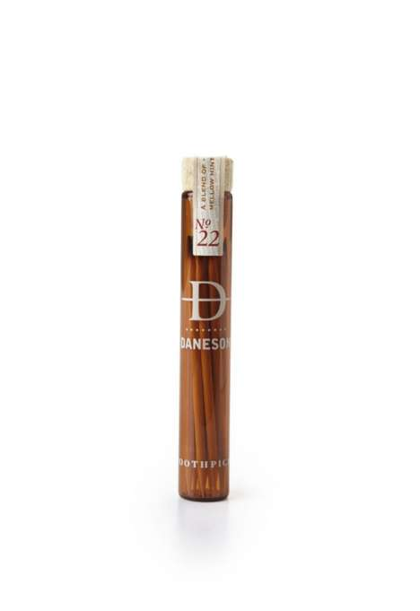 Boozy Artisan Toothpicks - The No. 22 Bourbon Daneson Toothpick is a Flavor-Steeped Birch Pick