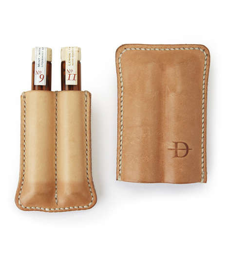 Luxurious Toothpick Sheaths - Daneson's Toothpick Case Keeps Bottled Toothpicks Always at the Ready