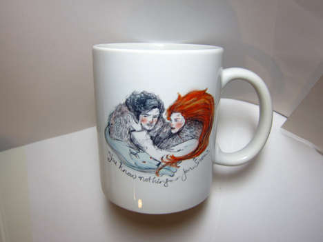 Romantic Fantasy Mugs - This Ceramic Mug Commemorates Jon Snow and Ygriette's Relationship