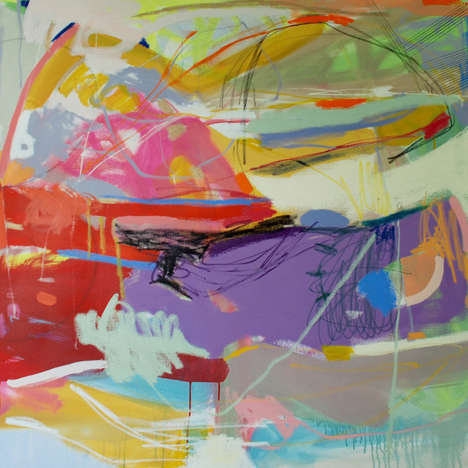 Vibrantly Abstract Paintings - Artist Michelle Armas Plays with Bold Colors and Bolder Strokes