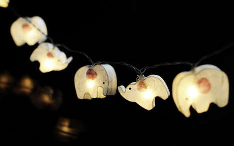 Elephant Parade Lights - This Adorable String Lighting is Reminiscent of a Dumbo Musical Number