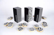Coordinating Cookie Boxes - Tanya Heidrich's Achromatic Cookie Packaging Reflects the Designs Inside