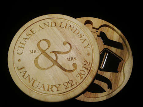Monogrammed Chopping Blocks - This Personalized Cutting Board from Etsy Makes a Great Wedding Gift
