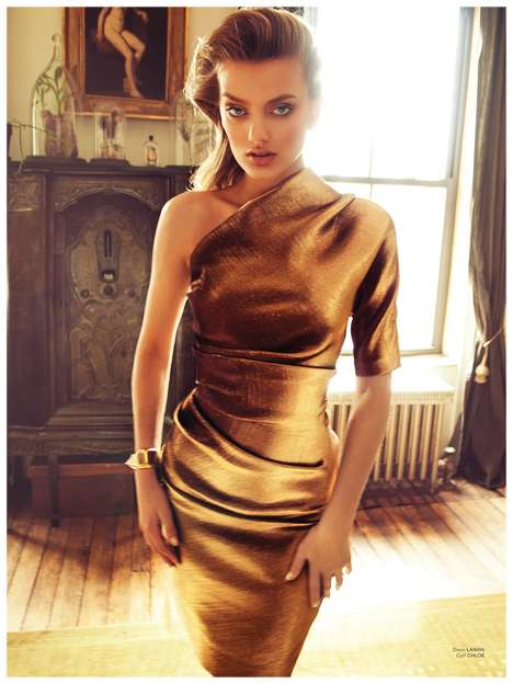 Warm Glamorous Editorials - The Archetype Magazine Issue 1 Cover Shoot Stars Bregje Heinen