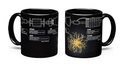 Particle Physics Mugs - These Unique Cups Visually Explain the Higgs Boson Protons