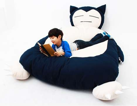 Anime Monster Beds - This Bed is Designed to Look Like the Sleepy Pokemon Snorlax