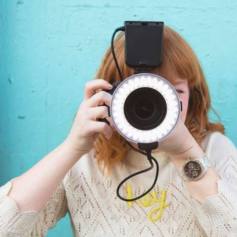 Versatile Photography Flashes - The Flashmate Ring Camera Light Lets Photographers Get the Best Shot