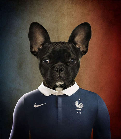 Canine Soccer Players - Dogs of the World Cup by Life on White Puts Pups in Uniforms