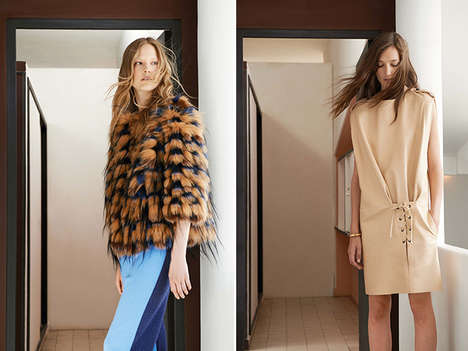 Softly Structured Fashions - The Chloé Resort 2015 is the French Brand