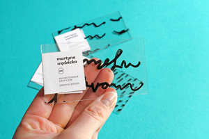 Martyna Wedzicka Created a Clever Clear Plastic Business Card