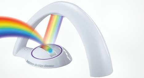 Simulating Rainbow Spotlights - This Technicolor Light Projector Casts a Rainbow Across Your Wall