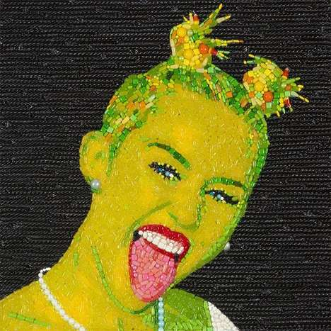 Candied Celebrity Collages -
