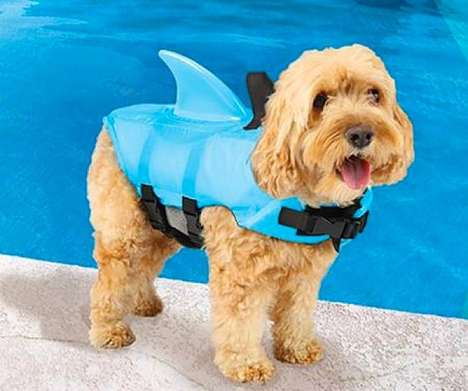 Canine Life Jackets - The Sea Squirts Dog Lifejackets Make Your Puppy Look Like a Shark