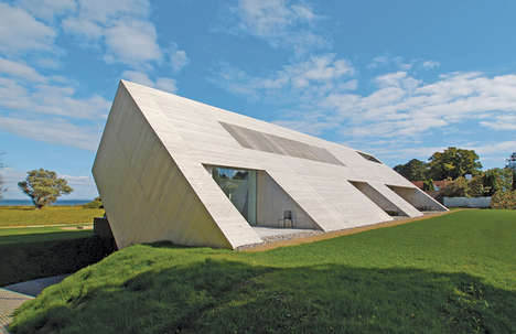 Striking Slanted Abodes - This Unique Sculptural Design for the Villa Bie Residence is Stunning