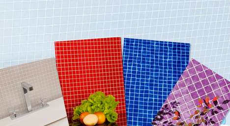 Plastic Bottle Wall Tiles - Rivesti Recycles PET Bottles to Create Multicolored Mosaic Tiles