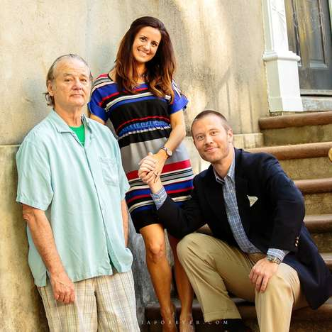 Celebrity Crashed Engagement Photos - Bill Murray Crashed an Engagement Photo Shoot