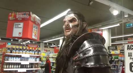 Orc-Infused Supermarkets - An Orc From the Lord of the Rings Took a Tour in a Food Market