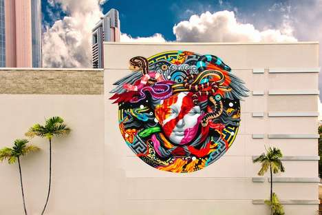 Fashion Iconography Street Art - The Versace Mural by POW! WOW! x Tristan Eaton Celebrates Opulence