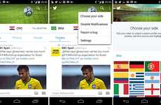 Sporty Social Media Updates - Several World Cup Twitter Mods Make the 2014 Matches Easy to Follow