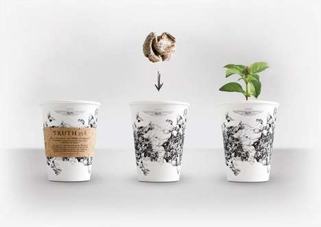 Plantable Coffee Cups - Seeds of Truth Coffee Cups Create Herb Gardens Instead of Waste