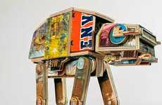 Derek Keenan Maked an Upcycled AT-AT Sculpture