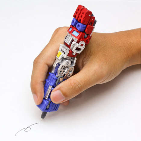 Transformable Toy Pens - These Transformers Pens are More Than Meets the Eye