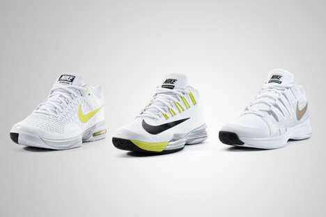 White Wimbledon Sneakers - Sponsored Athletes Wear Nike Tennis 2014 Wimbledon Footwear Collection