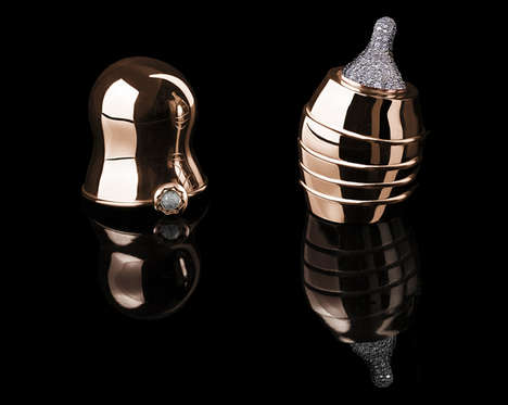 $270,000 Baby Bottles - The Doll Luxury Baby Bottle by Suommo is Made with Rose Gold and Diamonds