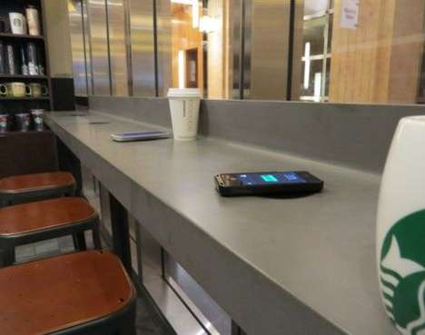Coffee Chain Phone-Charging - Starbucks is Rolling Out Wireless Charging Mats Across American Stores