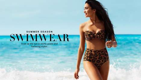 Eclectic Bikini Fashion Ads - The H&M Summer Season Swimwear Campaign Stars Kelly Gale