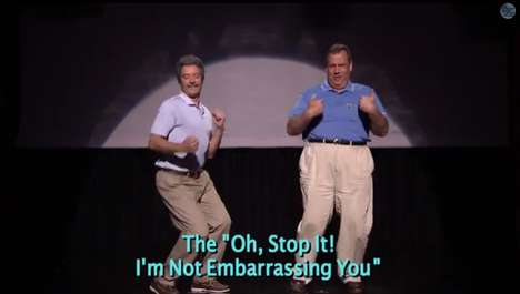 Dad Dancing Skits - Jimmy Fallon and Chris Christie Demonstrate the Evolution of Dad Dancing