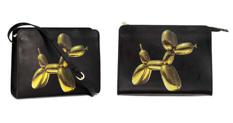Artist-Designed Purses - The H&M Balloon Dog Leather Handbag Celebrates New York Flagship Store