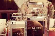 Clear Coco Phone Cases - This Classy Chanel Phone Case is Shaped Like the Classic Perfume Bottle