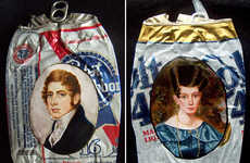 Crushed Can Portraits - These My White Trash Family Portraitures Cleverly Juxtapose Art and Food