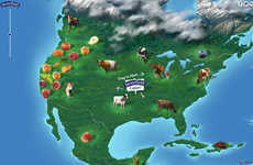 Interactive Ingredient Maps - Stonyfield's Sourcing Map Shows Where Every Ingredient Comes From