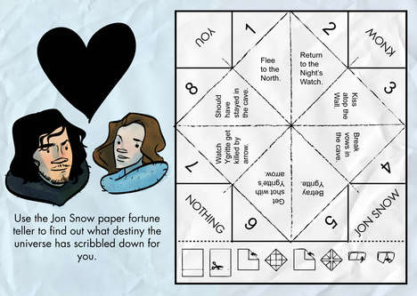 Fantasy Fortune Tellers - This Game of Thrones Novelty Cootie Catcher is Inspired by Jon Snow