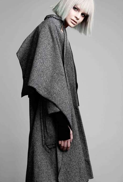 Jazz-Inspired Coat Collections - The Konsanszky Autumn/Winter 2014/2015 Collection Displays Movement