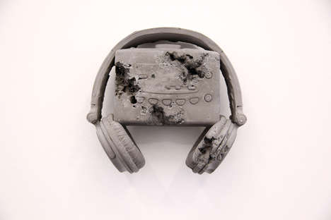 Eroding Tech Art - The Latest Daniel Arsham Art Involves Decaying Music Devices