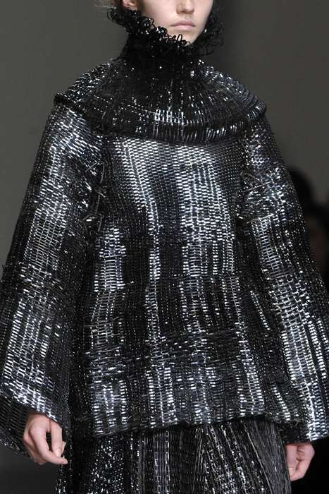 Metal Thread Runways - The Graham Fan Graduate Collection Finds Elegance in an Unlikely Material