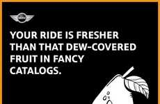Quirky Car Compliment Cards - MINI Car's Compliment Cards Promote Camaraderie Between Drivers
