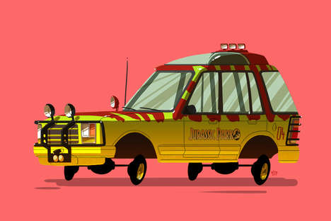 Pop Cultural Vehicle Illustrations - Ido Yehimovitz