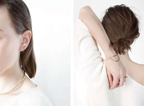 Minute Minimalist Jewelry - The Another Feather Pearl Collection Features Dainty Pieces