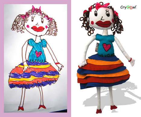 Custom Plush Toys - These Customized Dolls are Made From your Little One