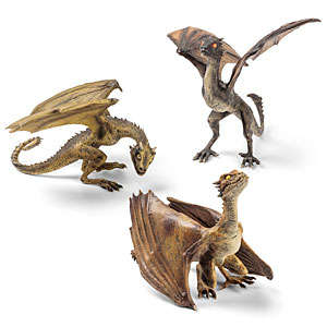 Fantasy Dragon Figurines - These Miniature Dragon Sculptures Celebrate the Game of Thrones Finale
