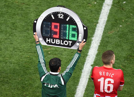 Watchface Sports Scoreboards - Hublot Redesigned the Soccer Score Board for the 2014 FIFA World Cup