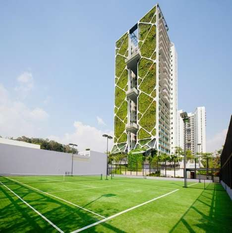 Vertical Garden Condominiums - Tree House Singapore Set the World Record for Largest Vertical Garden