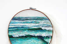 Spilled Beach Embroideries (UPDATE)