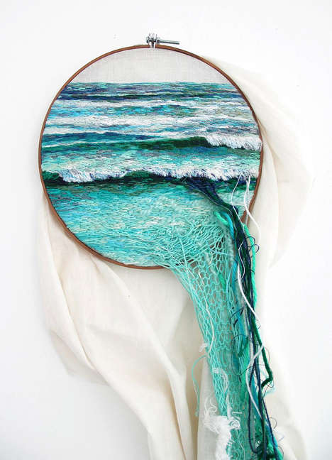 Spilled Embroidered Landscapes - Ana Teresa Barboza Goes Far Beyond the Hoops with Her Works of Art
