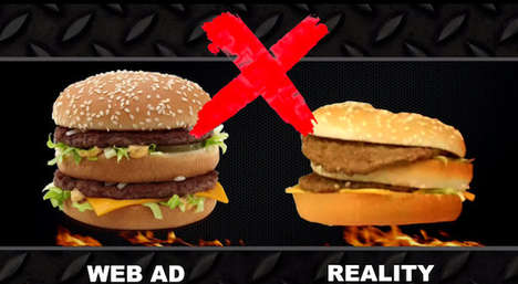 Fast Food Reality Experiments - Mediocre Films Explores If Real Food Can Look Like the Fast Food Ads